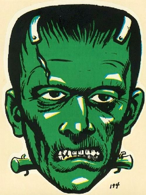 Frankenstein decal, 1960s