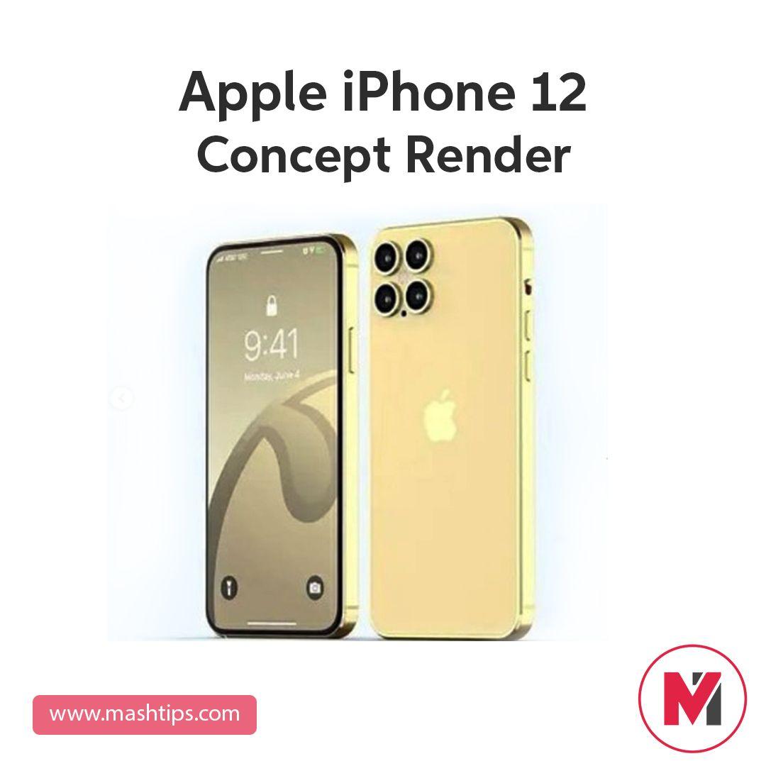 Apple Iphone 12 Concept Render In 2020 Ipad Mini Wallpaper Apple Iphone Iphone