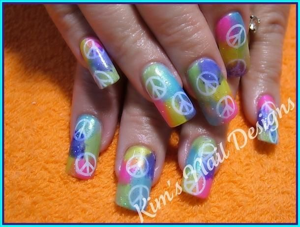 Peace Nails Image More Nails Pinterest Peace Nails