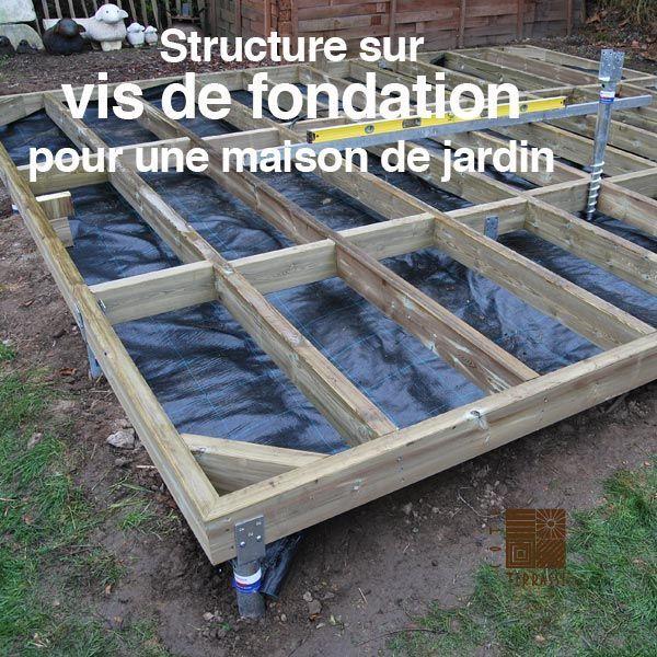 Vis de fondation écologique pour constructions durables - vis de - construction terrasse en bois sur parpaing
