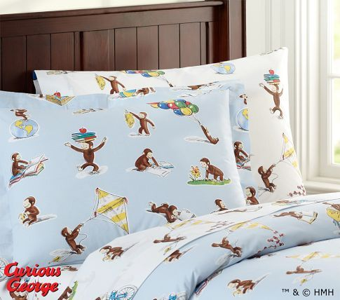 Pbk Curious George Duvet Cover Boy S Bedroom Bedding