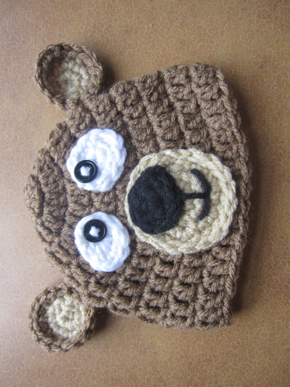 9e2df3d4bf37c Gorra+de+Oso+de+crochet+por+Karohook+en+Etsy