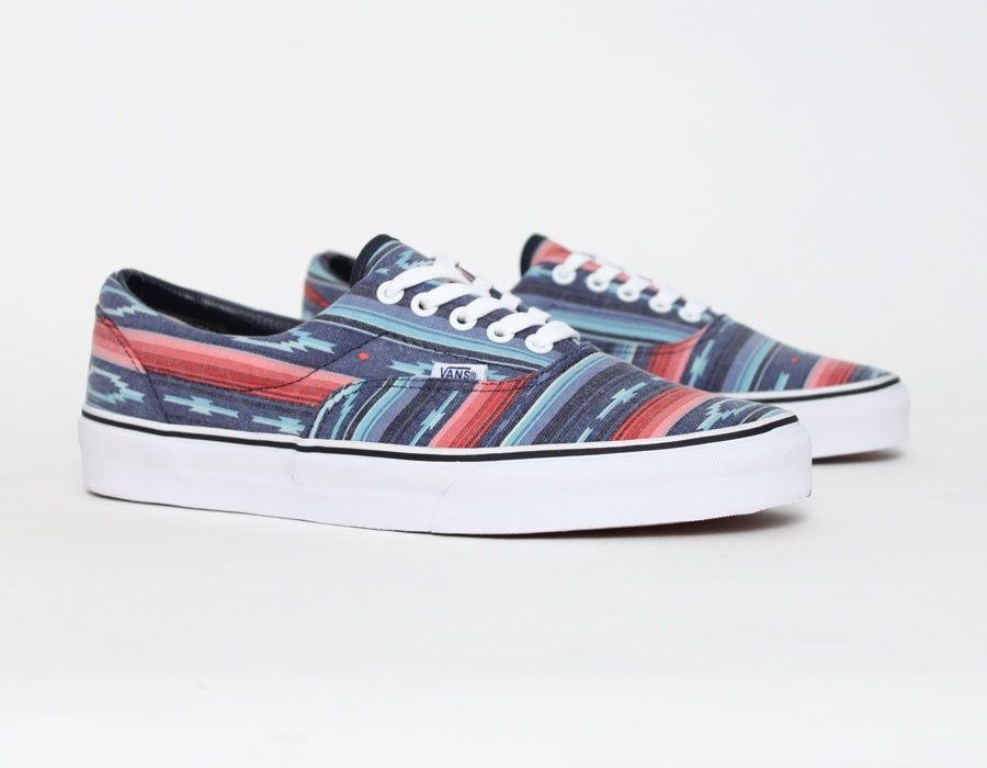b3e8eb00b3 Vans Era Van Doren Multi Stripe Blue  Sneakers