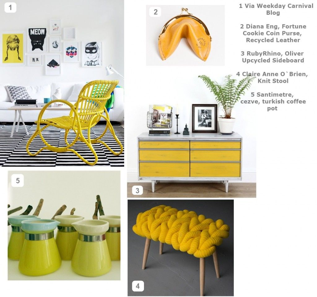 Inspire Me Yellow Moodboard Crazy Color Yellow