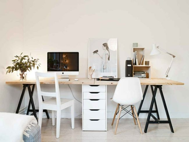 Fesselnd Schreibtisch Bauen Einfach Schwarz Bock Weiss Schrank Ikea