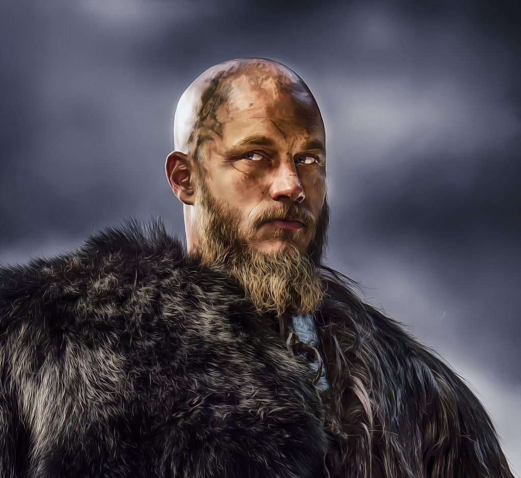 Vikings TV Show Ragnar Lodbrok Travis Fimmel Artwork Wallpaper