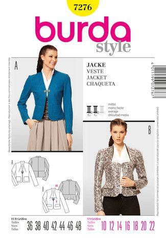 Schnittmuster: Jacke - Schößchen - Download - Jacken - Damen - burda ...