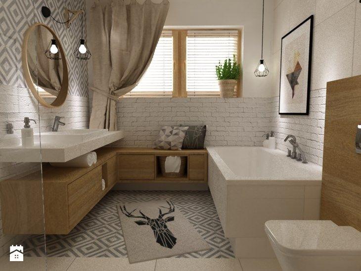 łazienki W Stylu Skandynawskim Duża łazienka W Domu