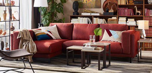 أثاث غرفة الجلوس صوفات طاولات قهوة وأفكار ايكيا المملكة العربية السعودية Small Living Room Design Living Room Designs Room Furnishing