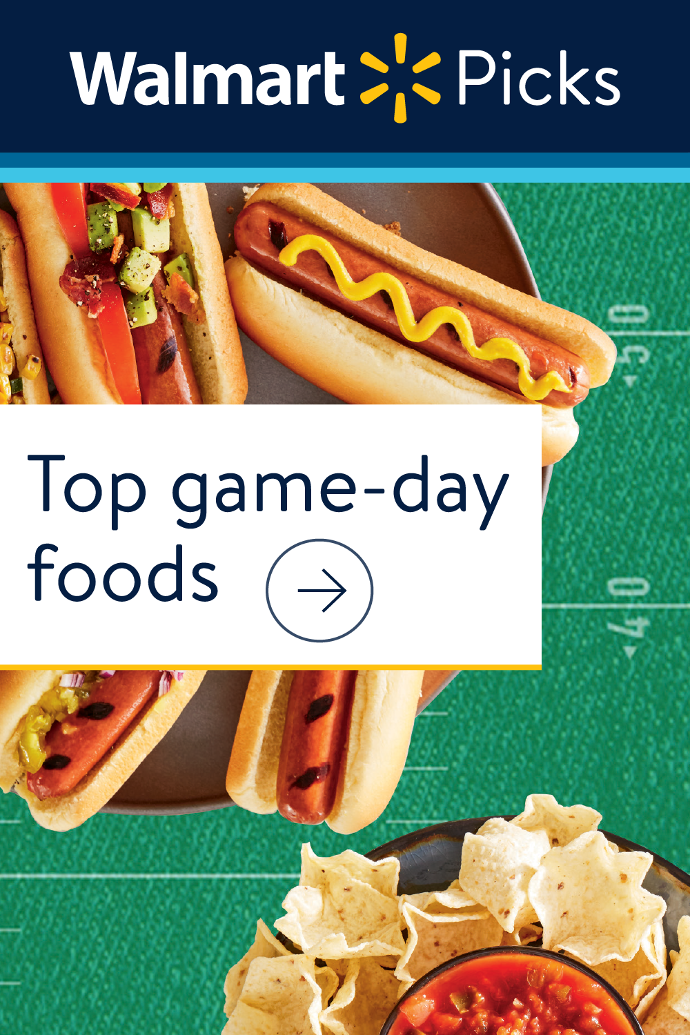 Top game-day foods Check out these picks for your game-day grilling. Save $10 on your first order with Grocery Pickup & Delivery. $50 min. Offer expires 09/30/19. Use code: SAVETIME.