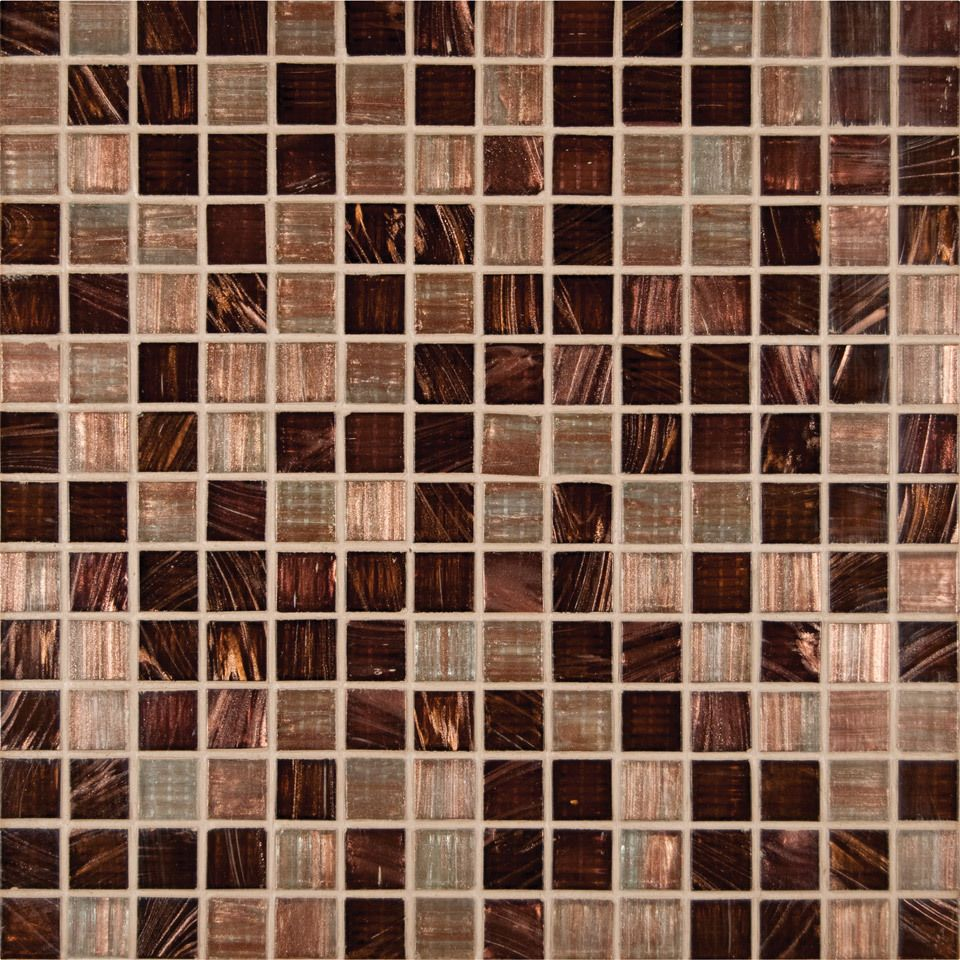 Discount Glass Tile Store - Iridescent Glass Tile - Copper 3/4\