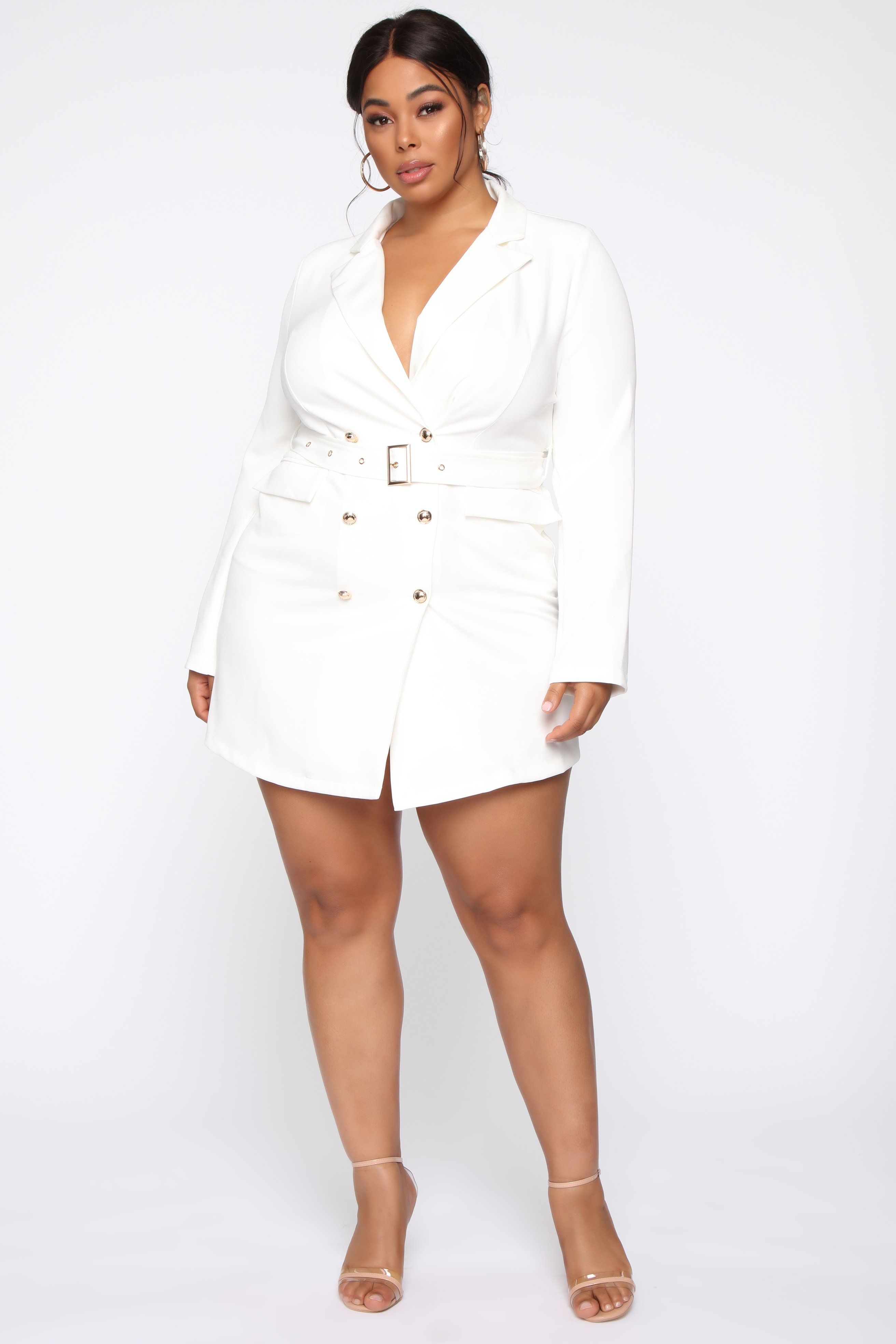 Suit Up Blazer Mini Dress White in 2020 Blazer mini