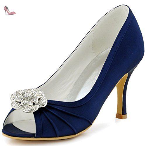 Chaussures de soirée à talon aiguille à bout pointu Elegantpark bleues femme oov6cybEh