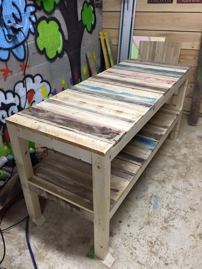 Shipping Pallet Upcycled Bench Coffee Table Plans Coffee Table