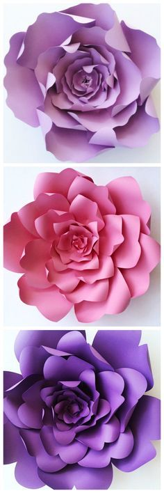 Paper Flower Templates By Paperflora Crafts For All Ages