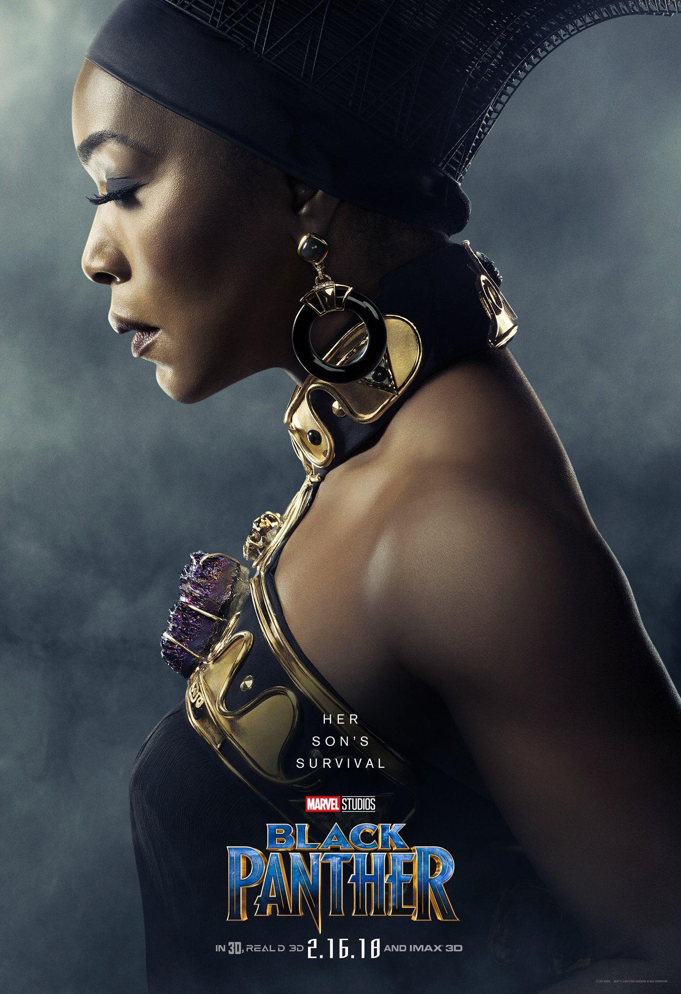 Angela Bassett as Ramonda - Black Panther • Poster design by Art ...