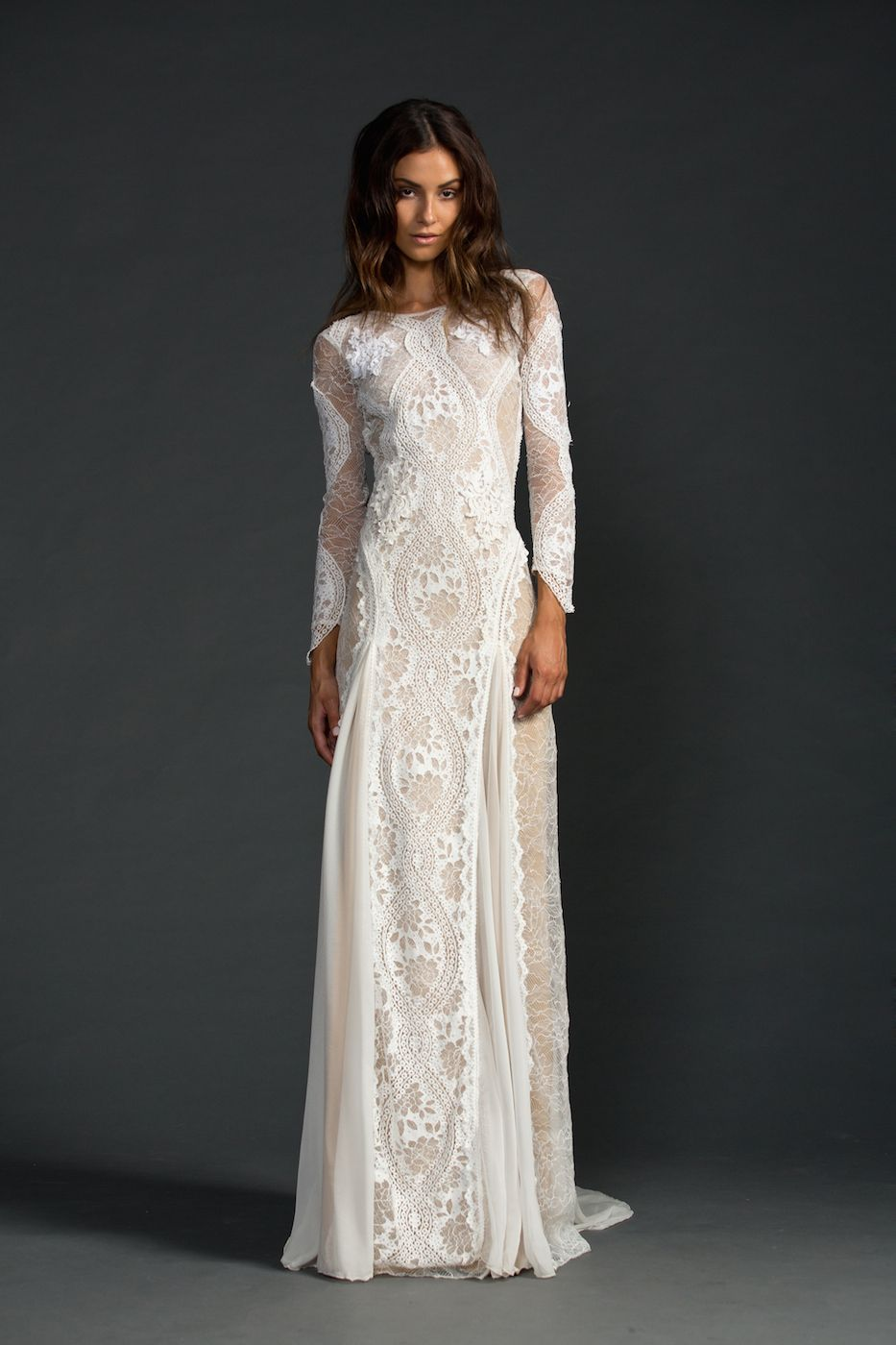 Vestido de noiva estilo boho chic lace wedding dresses lace