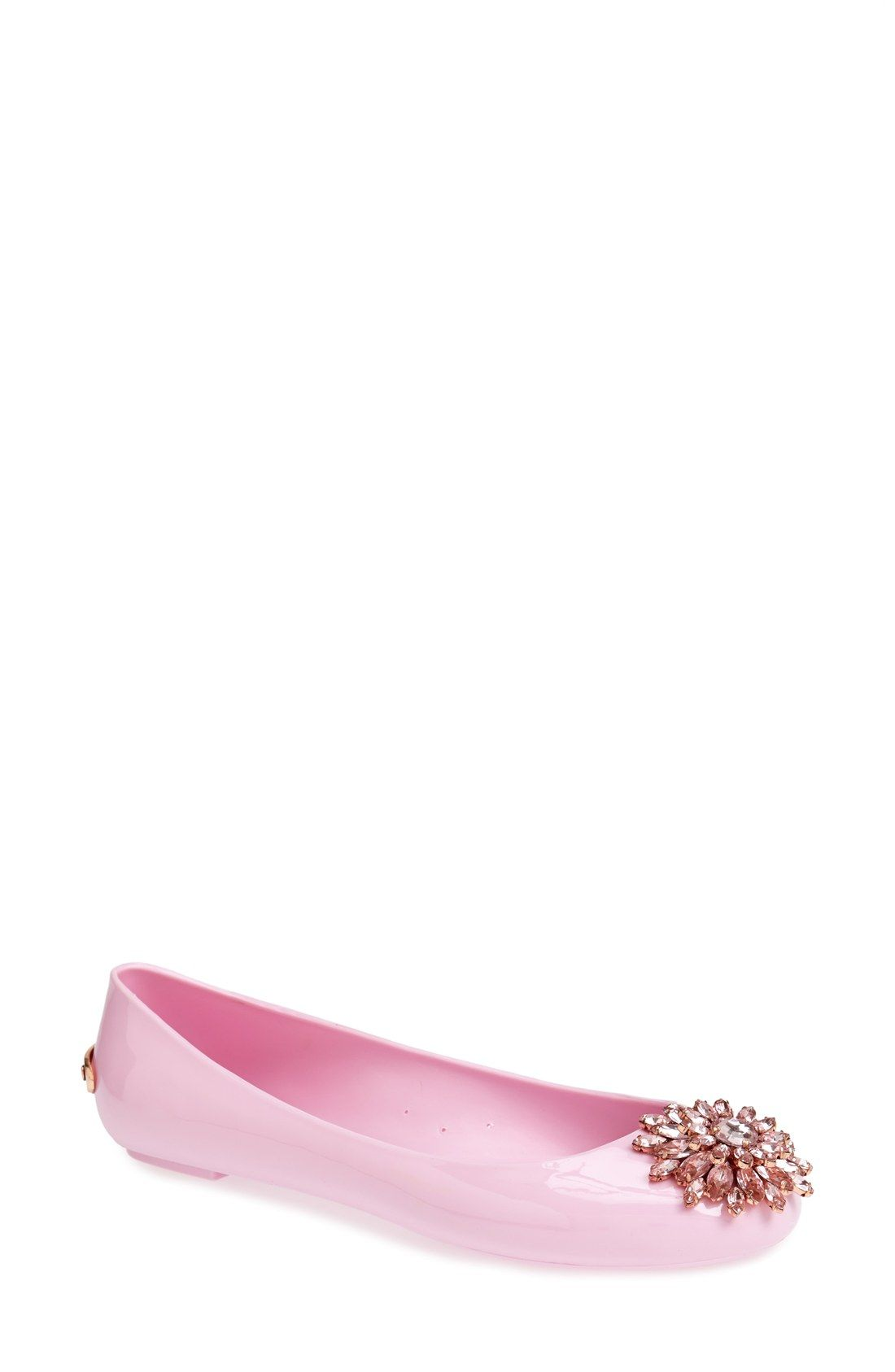 b3bcd660a Glittering pink flats make for a fun statement shoe. Ted baker ...