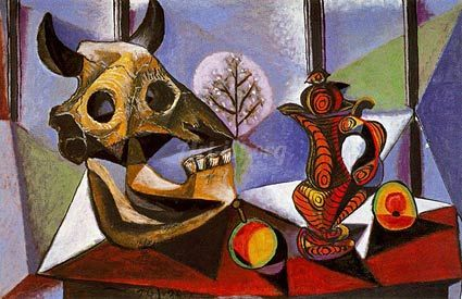 Still Life With Bull S Skull 1939 -   Pablo Picasso