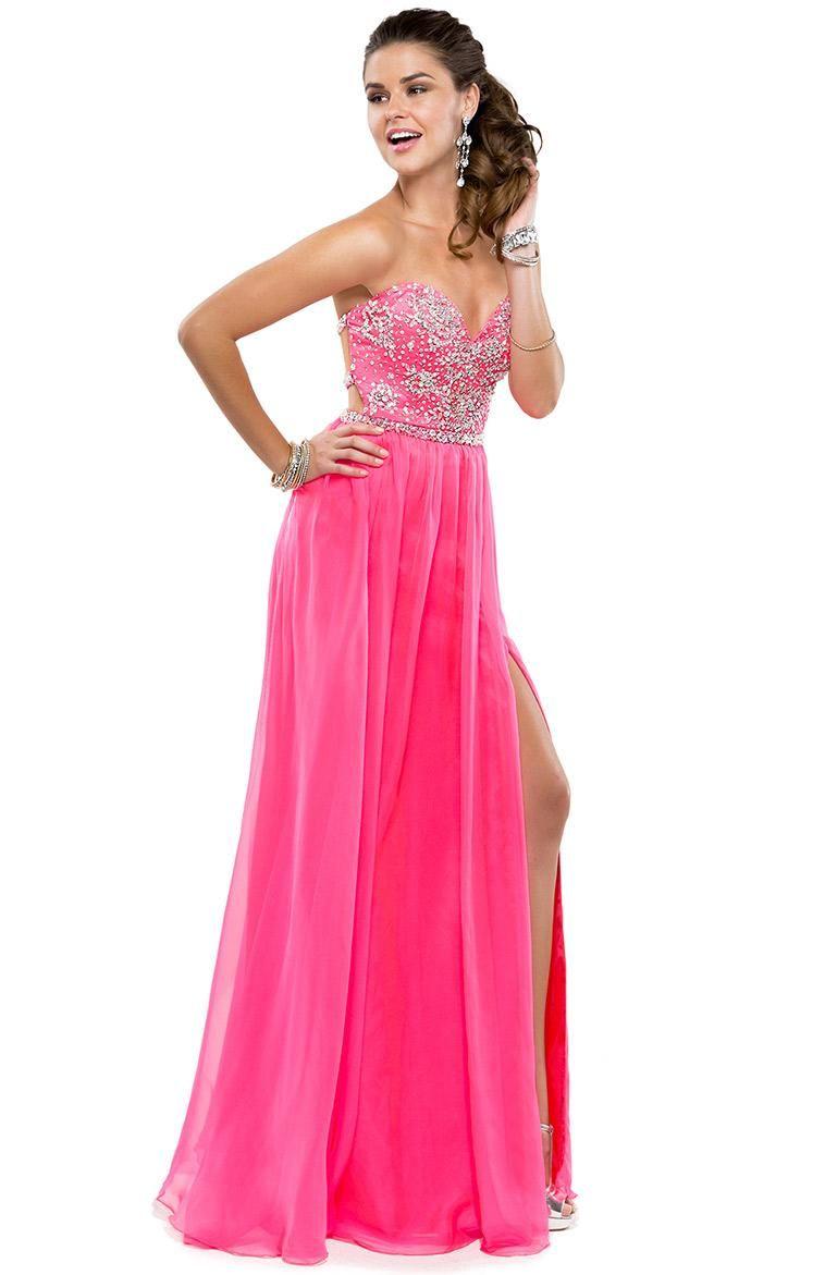 Try this sassy chiffon dress; it has a fully beaded bodice for shine ...