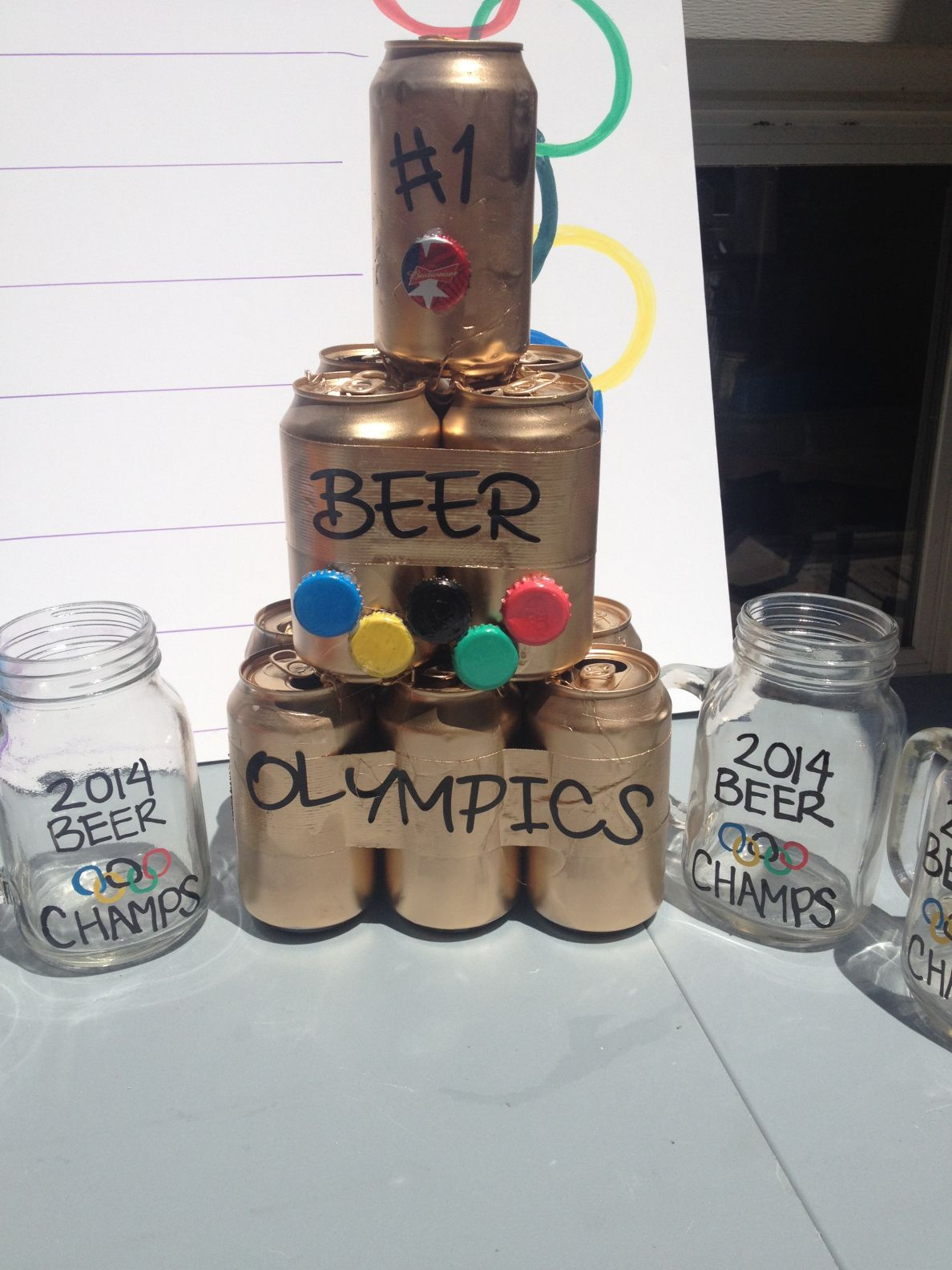 beer trophy Beer olympic, Beer olympics party, Beer trophy