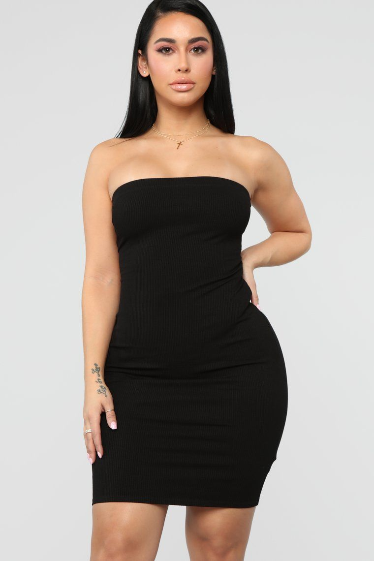 eda88886821 Back To Laces Tube Mini Dress - Black in 2019