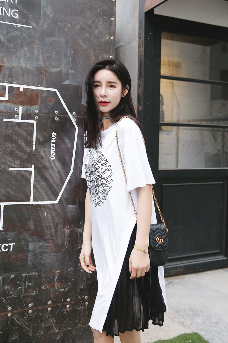 Click to buy ucuc summer new style women short sleeve tshirt long