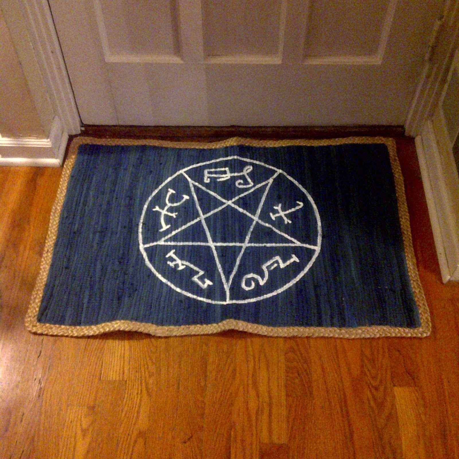 With Our S Combined Supernatural Devil Trap Rug
