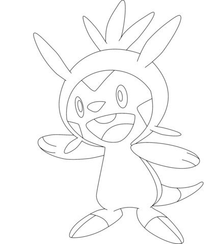 Chespin Coloring Page