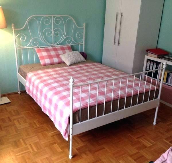 Metallbett Ikea Metall Bett 90x200 Weiss 180x200 Weisses