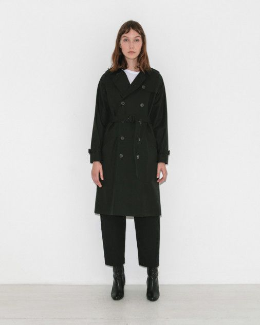 1eedf277058 A.P.C. Trench Garbo Vert Fonce in Green