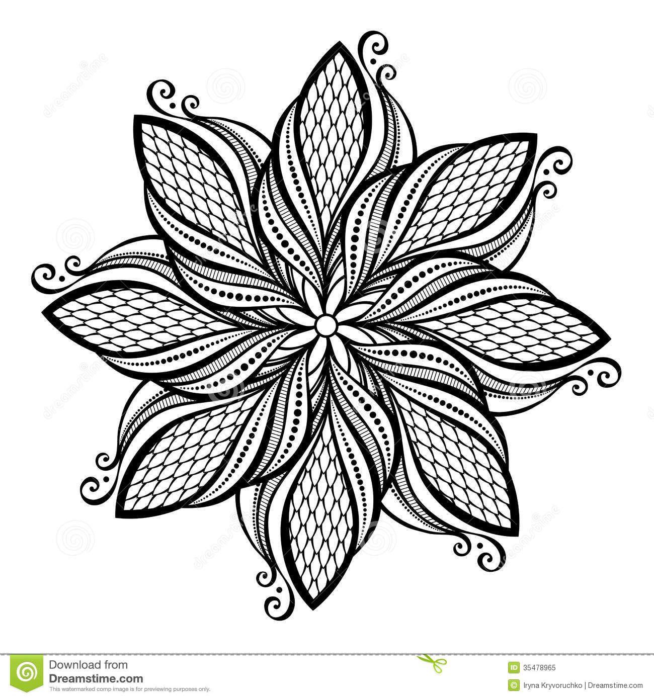 Blumenel Knüpfen mandala hermosa de deco vector 35478965 jpg 1300 1390 stencil