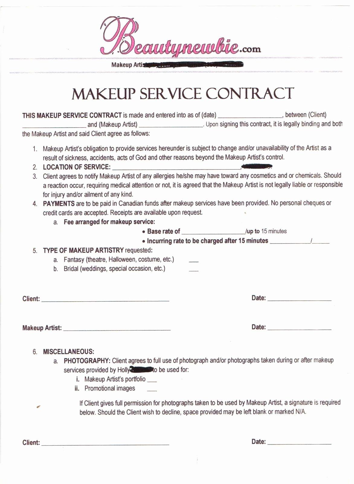 Hair Stylist Contract For Wedding Awesome Contract Makeup Artist Makeup Artist Kit Essentials Makeup Artist Tips Makeup Artist Kit