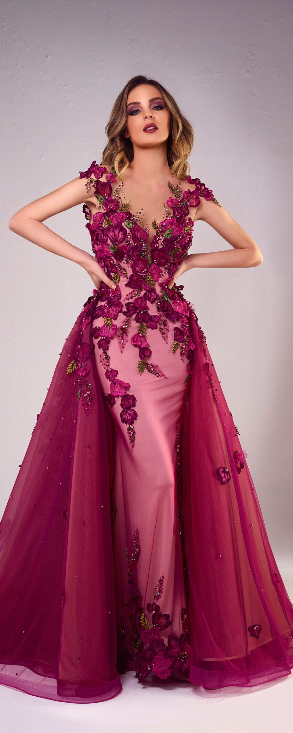 197566073ddd Floral Fashion · Tony Chaaya 2018 collection - Couture -  http://www.orientpalms.com
