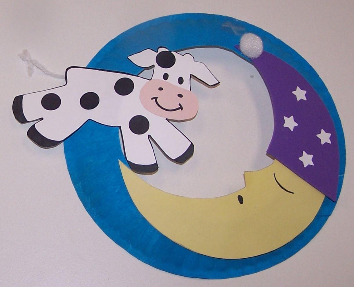 Cow Over The Moon Craft For Preschoolers