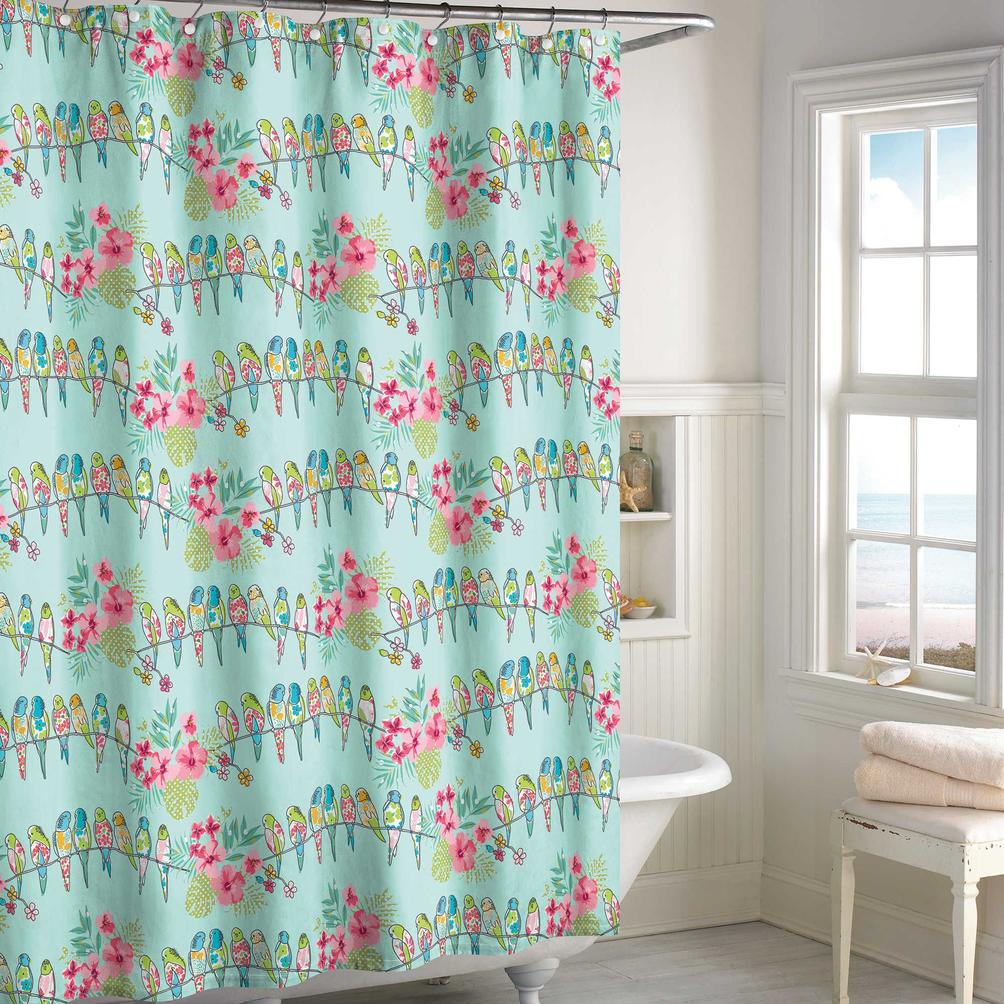 Tropical Bird Shower Curtain With Images Bird Shower Curtain