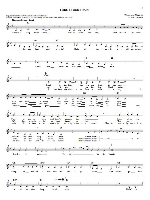 Long Black Train Sheet Music Erkalnathandedecker