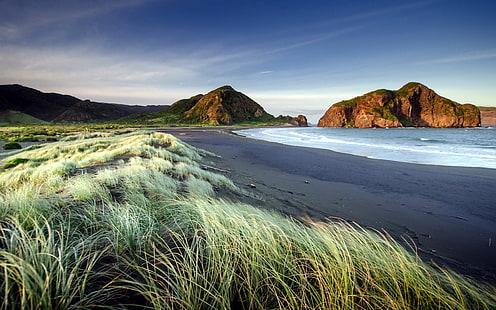 New Zealand Sea Coast Bay Sand Beach Autumn Ultra Hd Wallpaper Hd Wallpaper Beach Wallpaper New Zealand Landscape Beach Images Hd