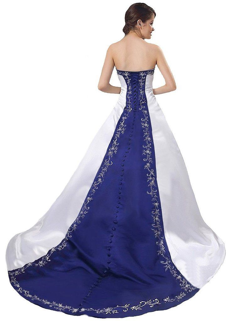 f5169af14f2 Snowskite Womens Strapless Satin Embroidery Wedding Dress Bridal Gown White  20     To view further for this item