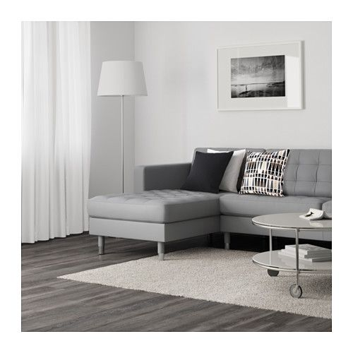 Landskrona loveseat and chaise grann bomstad gray metal ikea