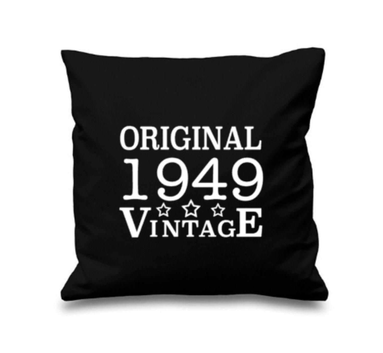 70th Birthday Cushion, 60th Birthday Gift Idea