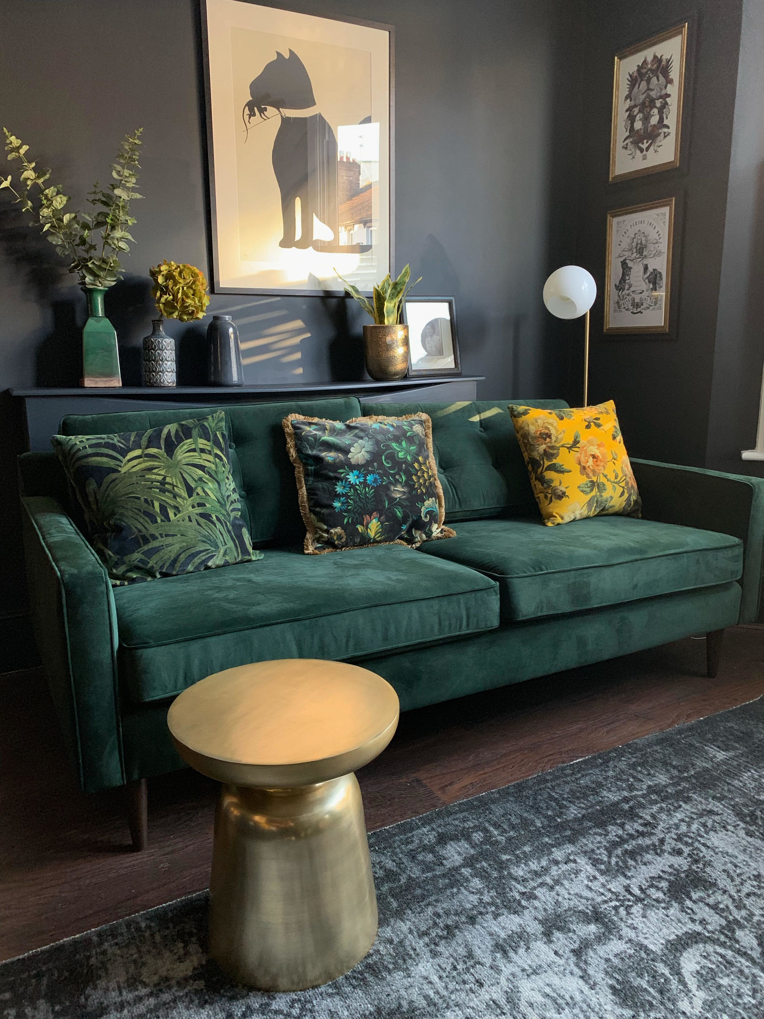 "Photo of Nicola Broughton-""The Girl with the Green Sofa""Blog HomeAmanda Cotton of HouseLust. A Colourful, Victorian Home Renovation"
