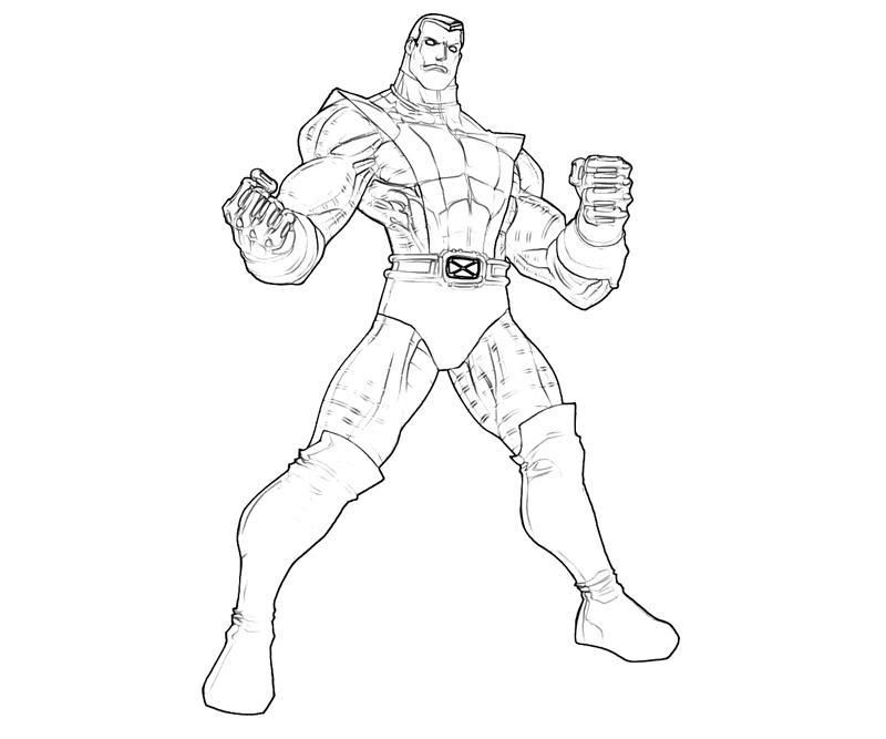 Printable coloring pages Colossus Superheroes Superheroes