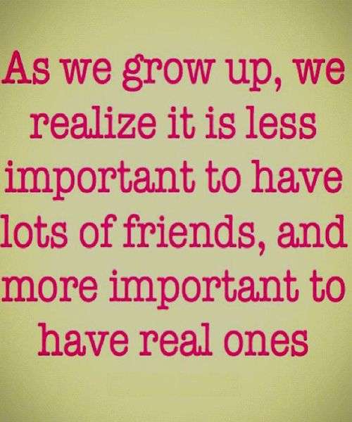 More Important To Have Real - Great Friendship Quote | Friendship ...