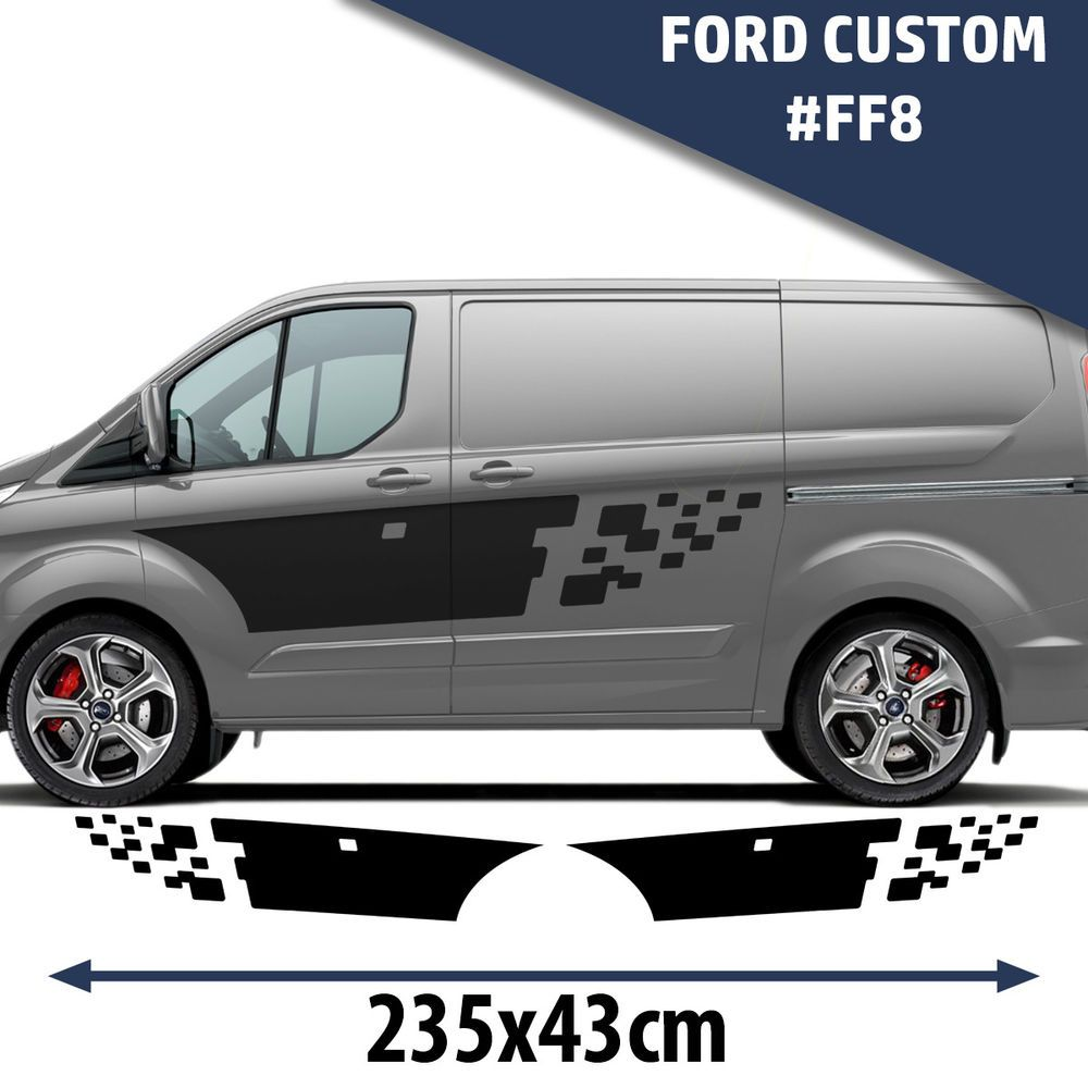 Car custom decals and graphics - Details About Ford Custom Side Racing Stripes Decal Graphics Tuning Car Size 235x43
