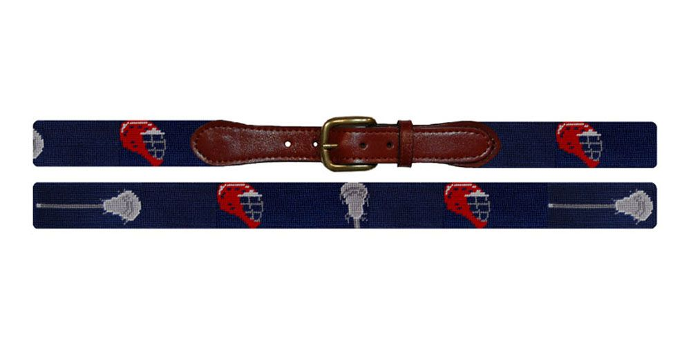 Lacrosse Needlepoint Belt