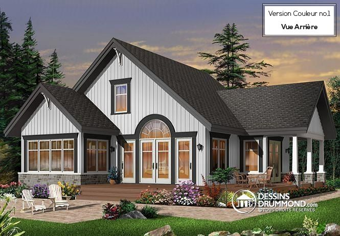NOUVEAU MODÈLE Cottage traditionnel de style rustique offrant