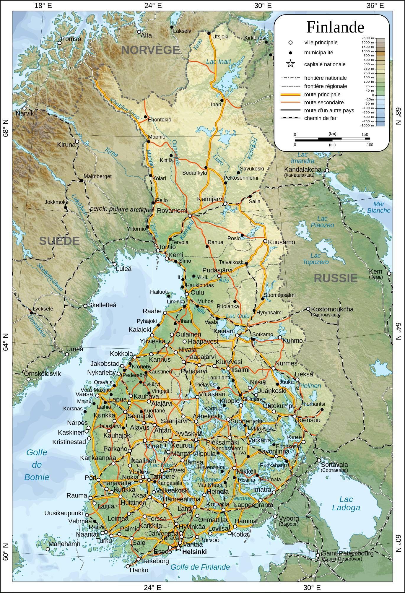 carte finlande