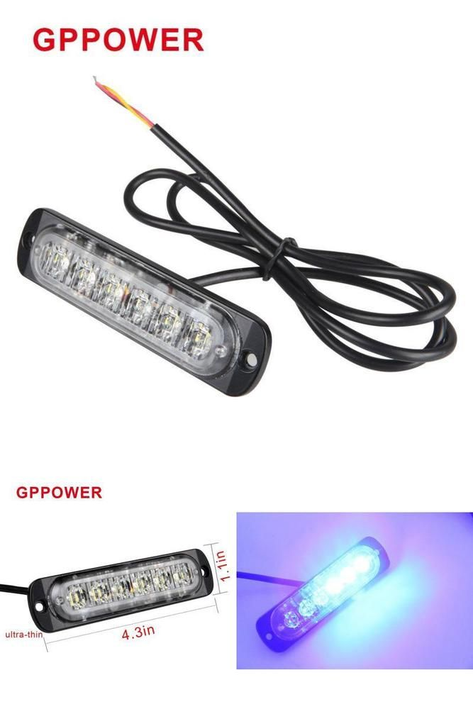 6 led car emergency strobe lights amberwhite 19 flashing mode 6 led car emergency strobe lights amberwhite 19 flashing mode caution light bar aloadofball Image collections