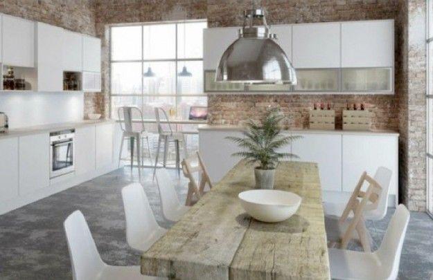 Tavoli in legno grezzo nel 2019 | Arredamento | Cucina nordica ...